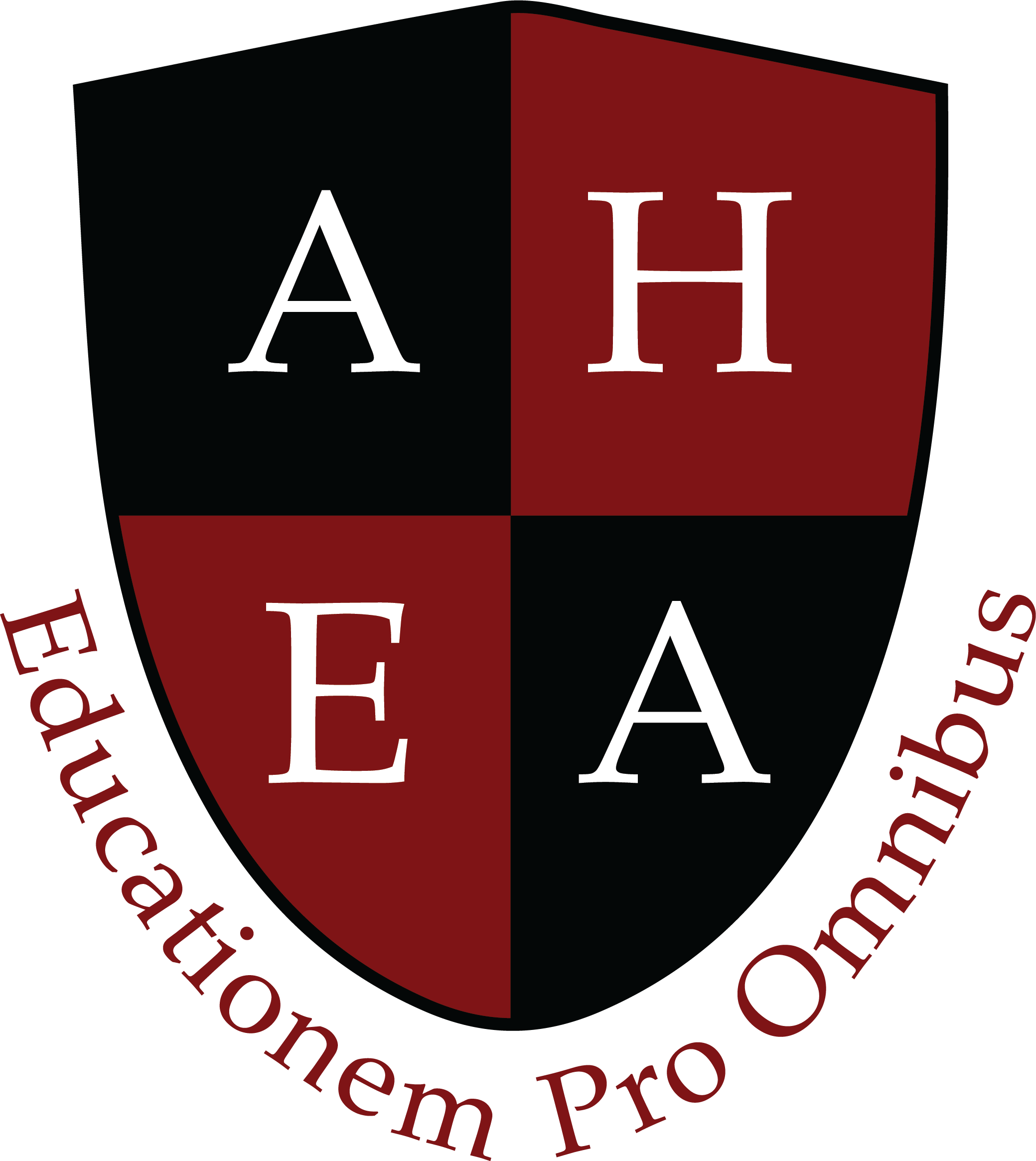 AHEA Logo Shield red text